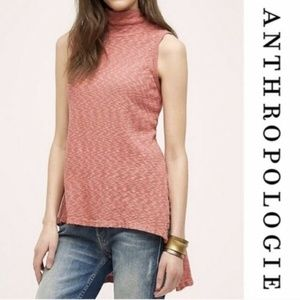 Left of Center Anthro Knit Sleeveless Hi-Lo Top